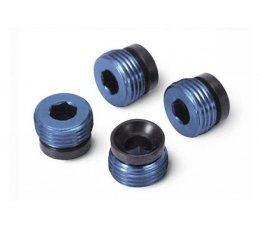 Aluminum caps, pivot ball (blue-anodized) (4)