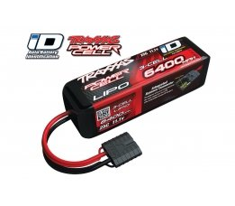 6400mAh 11.1v 3-Cell 25C LiPO Battery (iD Plug)